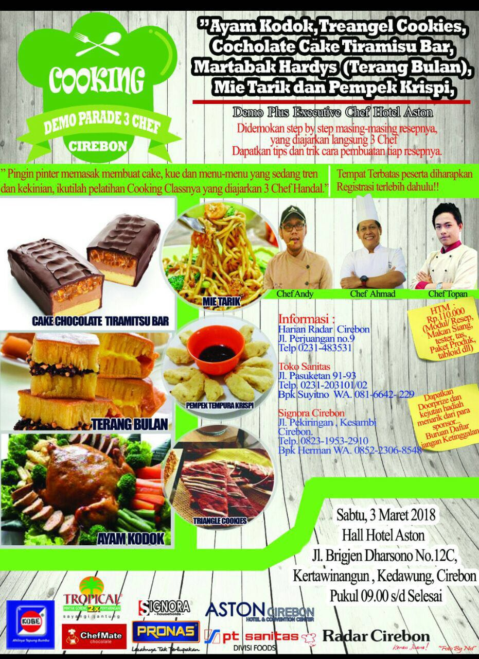 Cooking Demo Parade 3 Chef Cirebon