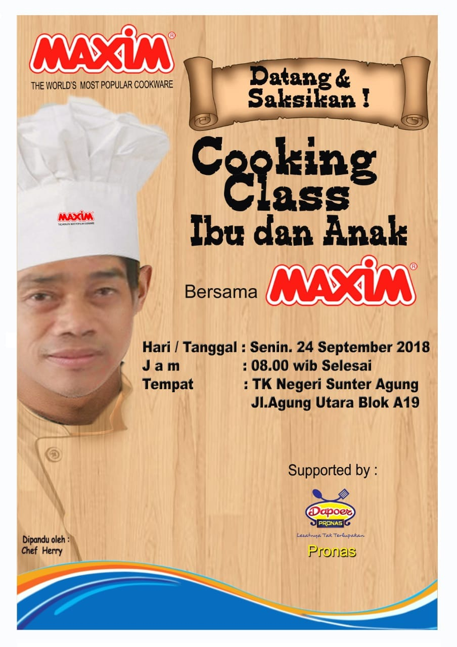 Cooking Class Ibu & Anak bersama Maxim