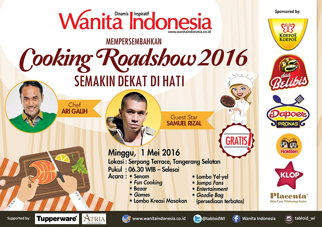 Cooking Roadshow, Minggu - 1 Mei 2016