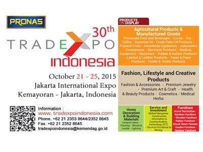Trade Expo Indonesia 30th - Oktober 2015
