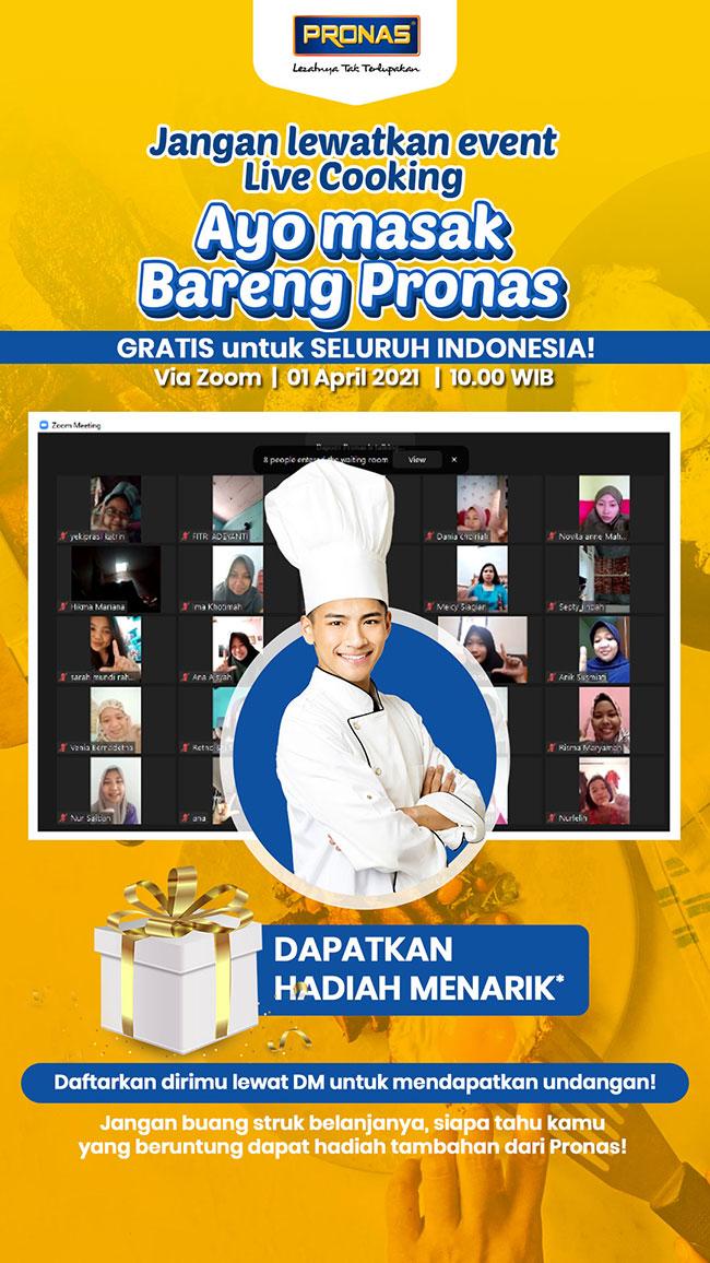 Live Cooking Bareng Pronas