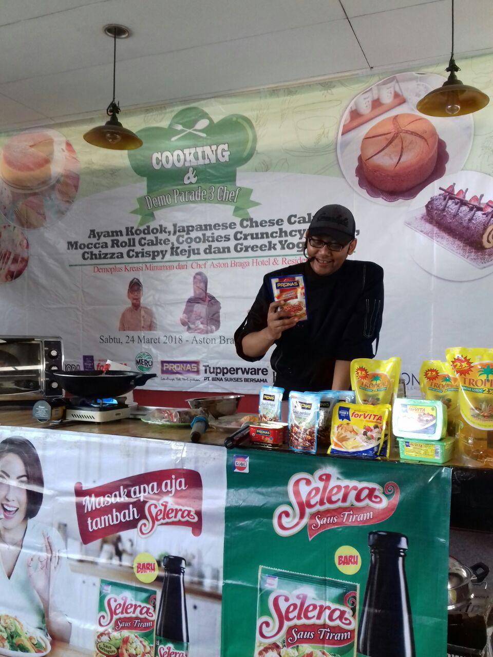 Cooking and Demo Parade 3 Chef at Aston Braga Bandung