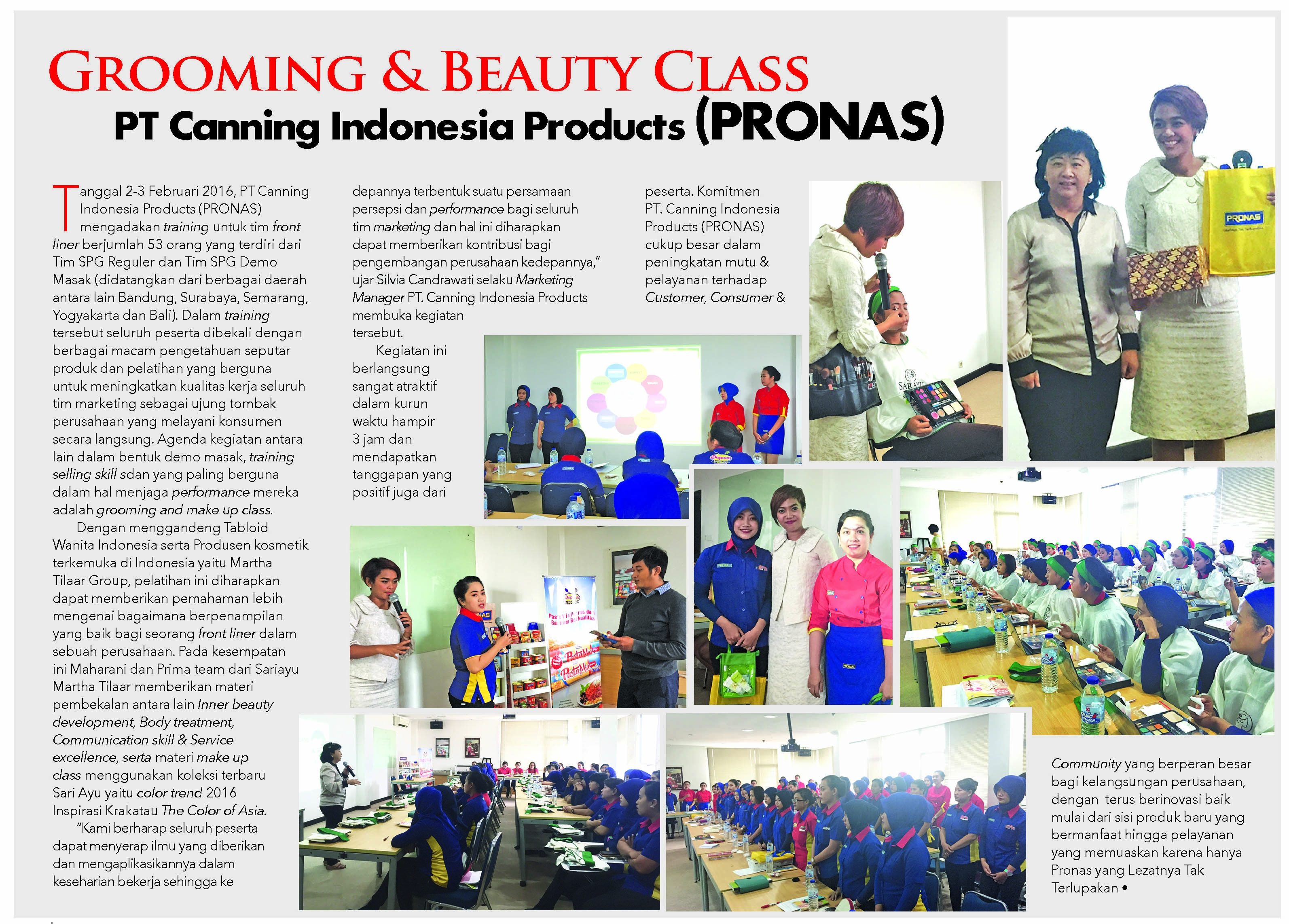 Beauty Class with Pronas - 3 Februari 2016