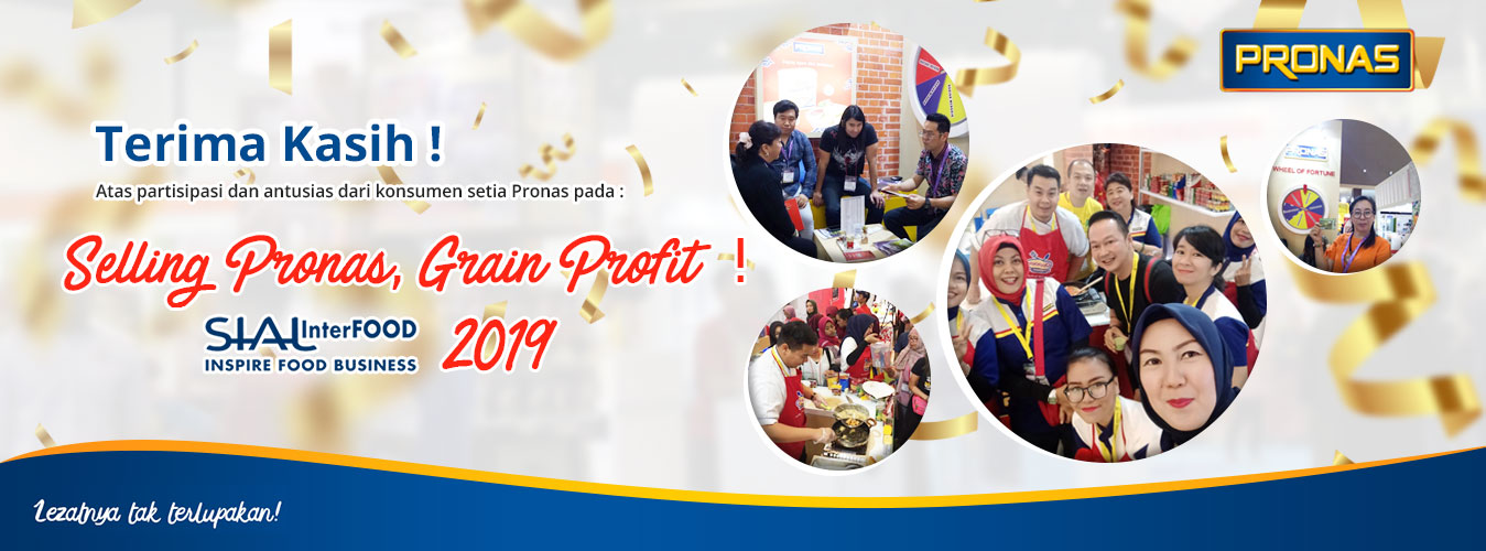 Say Thanks to participate at SIAL Interfood Pronas