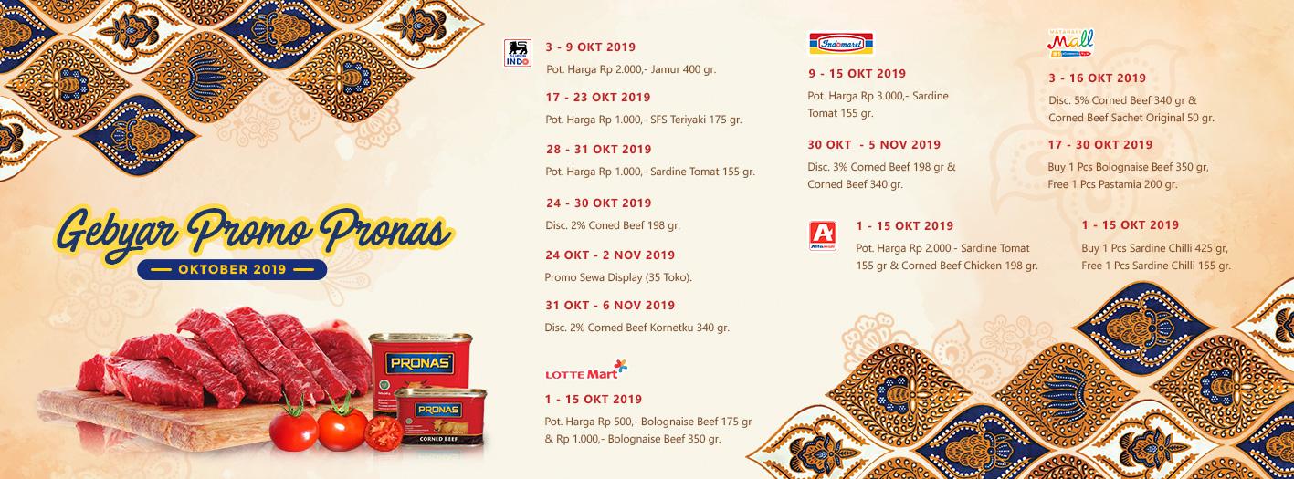 Promo Instore Pronas Oktober 2019