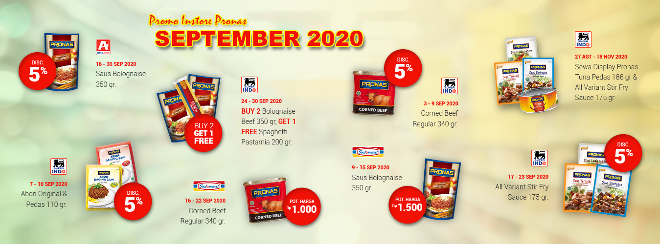 Promo Instore Pronas September 2020